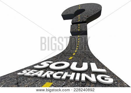 Soul Searching Question Mark Road Journey 3d Illustration