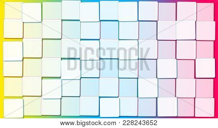 Abstract Background with Cubic Rainbow Blocks