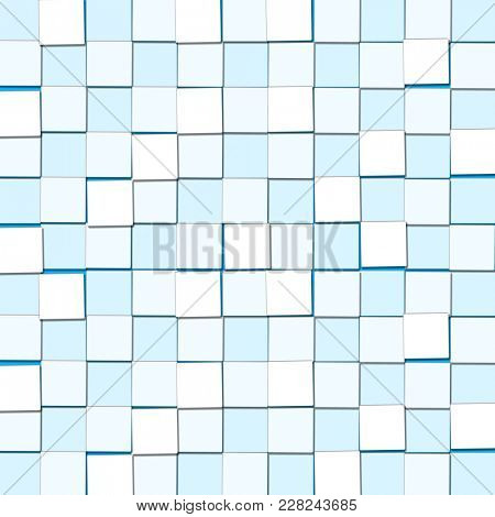 Abstract Background with Cubic Light Blue Blocks