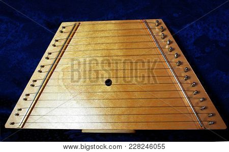Fifteen 15 String Wooden Lap Harp Lute Zither