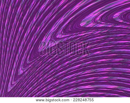 Abstract Fractal Background With Bright Purple Curved Lines