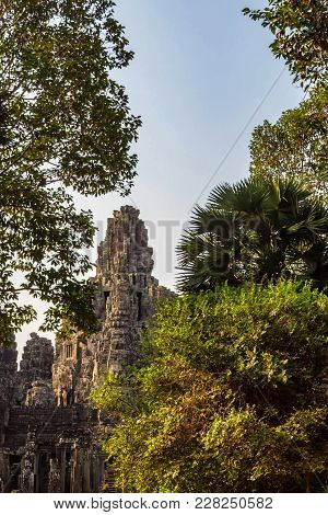 Scenic View To Bayon Temple, Angkor, Cambodia