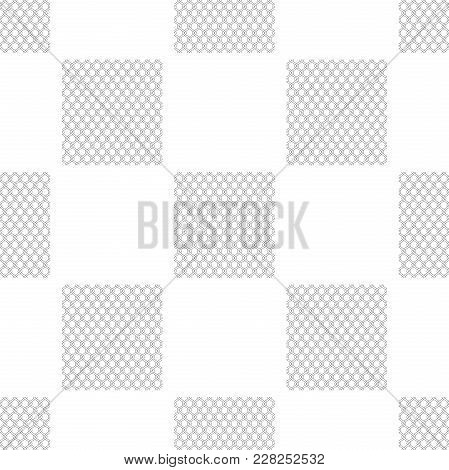 Chain Fence Icon Seamless Pattern On White Background. Metallic Wire Mesh Pattern. Flat Design. Vect