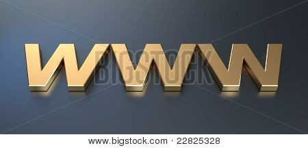 Golden www symbol