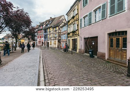 Old Streets Of The Village Colmar
