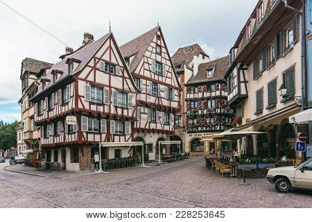 Streets Of The Medieval Village Of Colmar