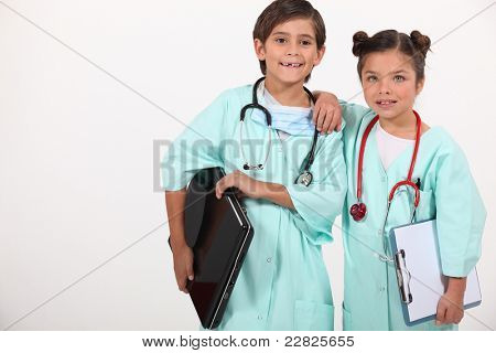children disguised as doctors