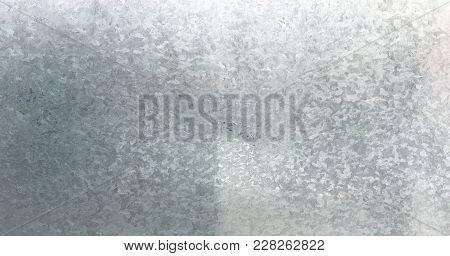 Zinc Galvanized Grunge Metal Texture. Old Galvanized Steel, Zinc Metal Texture Background. Close-up