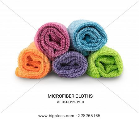 Multicolored Microfiber Cleaning Cloth