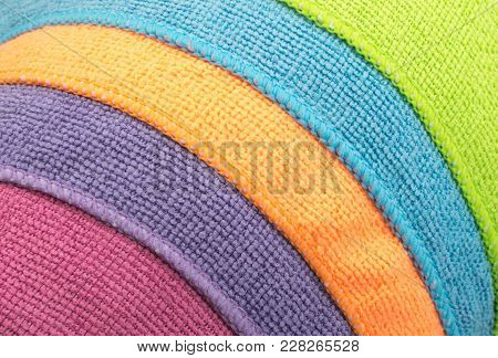 Multicolored Microfiber Pattern Or Microfibre
