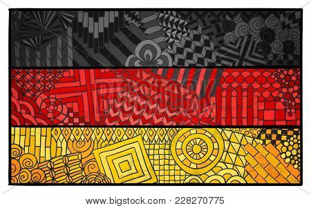 Germany Flag. Deutschland National Symbol. German Country Sign. Berlin. Deutsch Souvenir Design. Zen