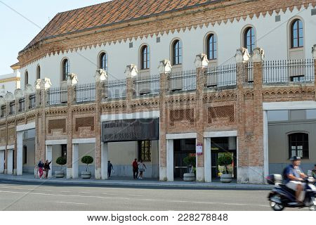 Cadiz, Spain - August 31, 2017: Congress Palace, Built Using The Structures Of The Royal Tobacco Fac