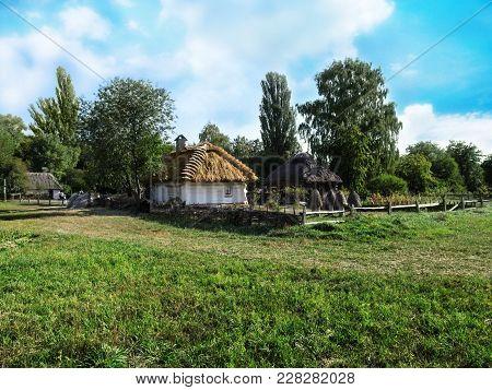 Ukraine, Pyrohiv (kiev) - September 17, 2017: Landscape Of The Ukrainian Traditional Village. A Clea