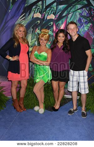 LOS ANGELES - AUG 19:  Tiffany Thornton, Tinkerbell, Brenda Song, Jason Dolley at the D23 Expo 2011 at the Anaheim Convention Center on August 19, 2011 in Anaheim, CA