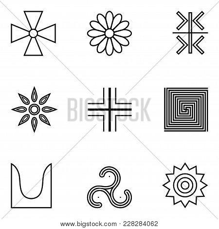 Illustration Of A Set Of Symbols Of Ancient Serbs