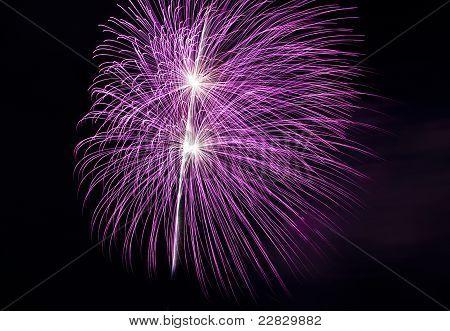 Spectacular Pink Fireworks