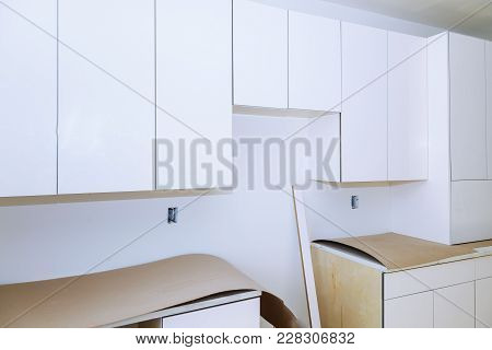 Installing New Induction Hob In Modern Kitchen Kitchen Installation Of Kitchen Cabinet.