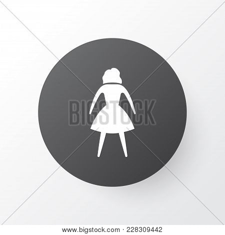 Woman Icon Symbol. Premium Quality Isolated Female Element In Trendy Style.