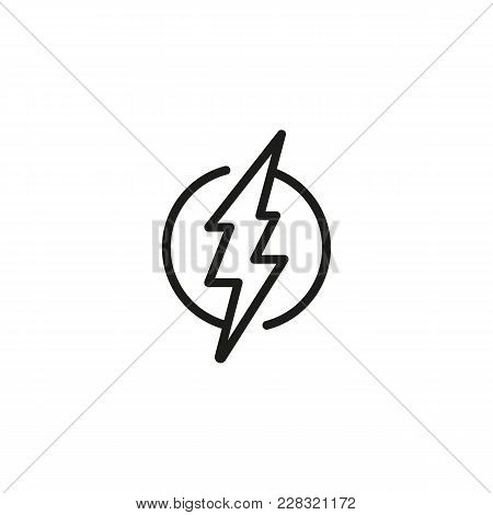 Line Icon Lightning Vector Photo Free Trial Bigstock