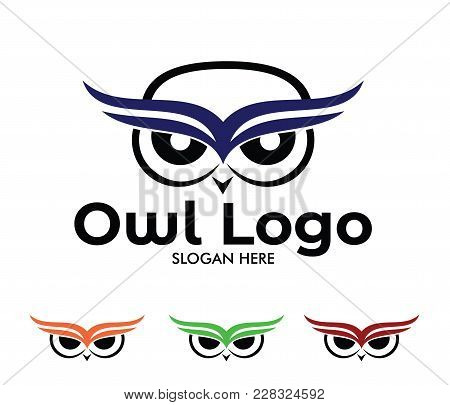Owl Wisdom Vector Logo Design