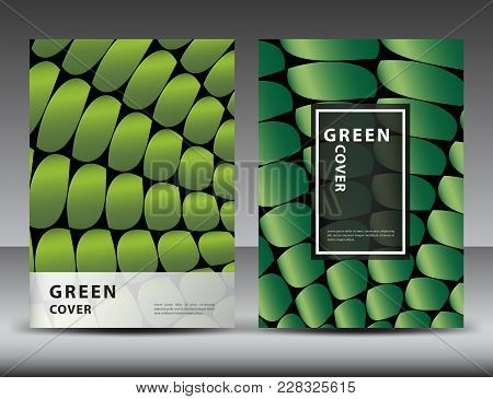 Green Abstract Background For Cover Design, Annual Report Template, Brochure Flyer, Book, Packaging,