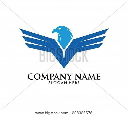 Force Freedom Strong Eagle Phoenix Vector Logo Design