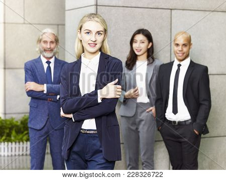 Portrait Of A Team Of Multinational And Multiethnic Corporate Business People.