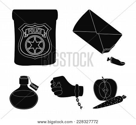 The Detective's Badge, The Handcuff On The Criminal's Hand, The Stump Of The Finger In The Bag, The