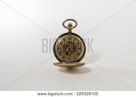 Old Time Pocket Watch, With Exposed Gears.