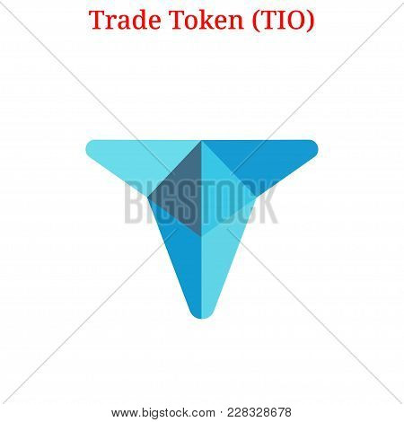 Vector Trade Token (tio) Digital Cryptocurrency Logo. Trade Token (tio) Icon. Vector Illustration Is
