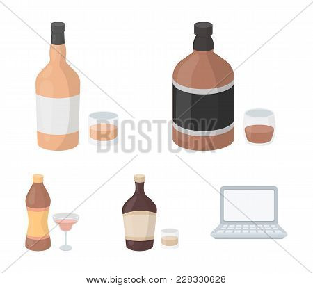 Whiskey, Liquor, Rum, Vermouth.alcohol Set Collection Icons In Cartoon Style Vector Symbol Stock Ill