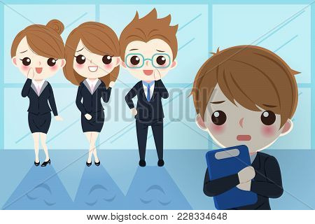 Blusiness Man With Bullying Concept In The Office