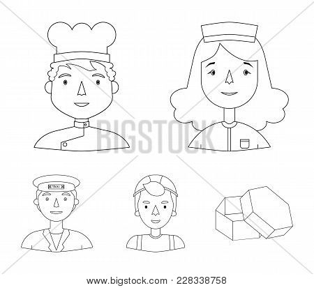 A Nurse In A Dressing Gown, A Cook In A Hood, A Builder In A Helmet, A Taxi Driver In A Cap. People