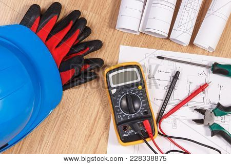 Electrical Construction Drawings Or Diagrams, Multimeter For Measurement In Electrical Installation