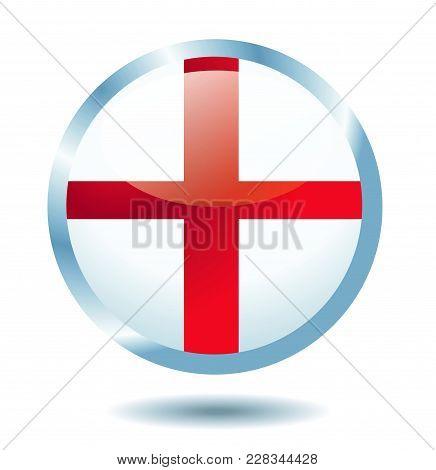 English Flag Vector Illustration On White Background