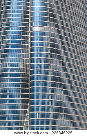 Abu Dhabi, Uae - March 27, 2006: A Detail Of The Abu Dhabi Investment Authority Building In The Emir