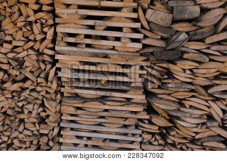 Stacked Lumber Background Rough Sorted Stacked Stack
