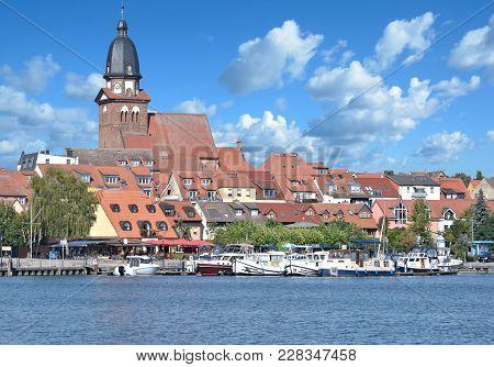Town Of Waren At Lake Mueritz In Mecklenburg Lake District,germany