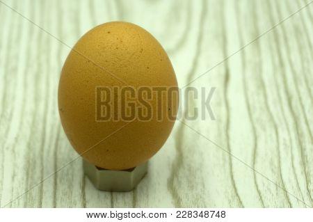 Egg Isolated On White Background Cutout Albumen, Aliment,