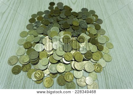 American Coins On Plain Background Revenue Save
