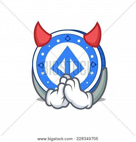 Devil Loopring Coin Mascot Cartoon Vector Illustration