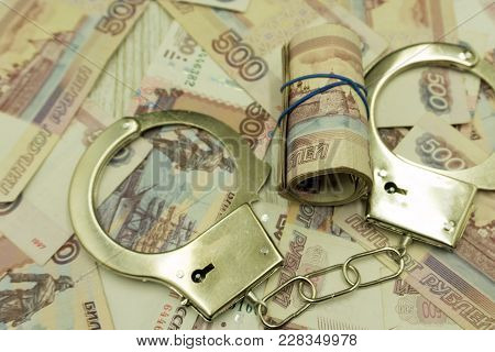 Bribe. Arrested For Bribery. Caught Red-handed - Stock Image