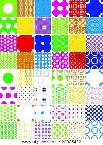 color polka dot patterns