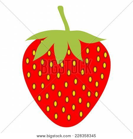 Strawberry On A White Background. Vector Illustration