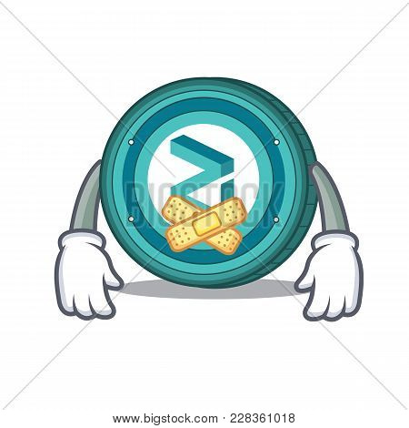 Silent Zilliqa Coin Macot Cartoon Vector Illustration