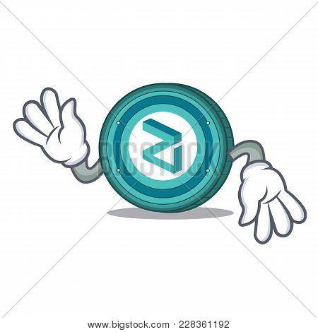 Crazy Zilliqa Coin Macot Cartoon Vector Illustration