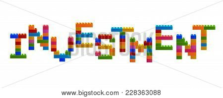Word Investment From The Blocks Of The Constructor. A Word From The Constructor. Multicolored Words