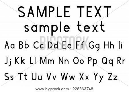 Alphabet Font. Upper And Lower Case. Vector Illustration