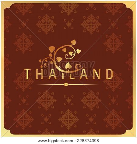 Lampang Thailand Carriage Thai Design Red Background Vector Image
