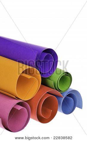 Circular Shapes Of Colorful Paper